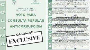 COLOMBIA STEMT VOOR OF TEGEN CORRUPTIE