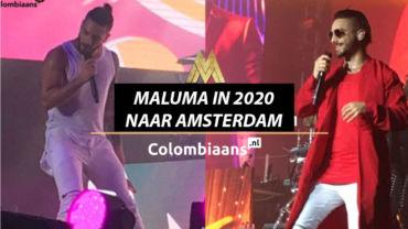 maluma in 2020 naar amsterdam