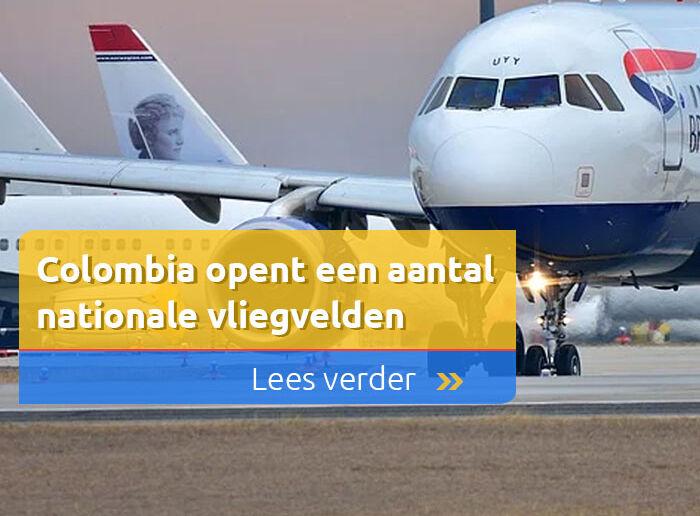 Colombia opent een aantal nationale vliegvelden